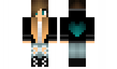 Minecraft skin cool girl places to visit minecraft - Cool girl skins for minecraft pe ...