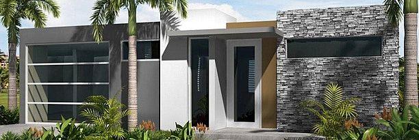Casa bella constructores en pr modernas fachadas for Fotos fachadas casas modernas puerto rico