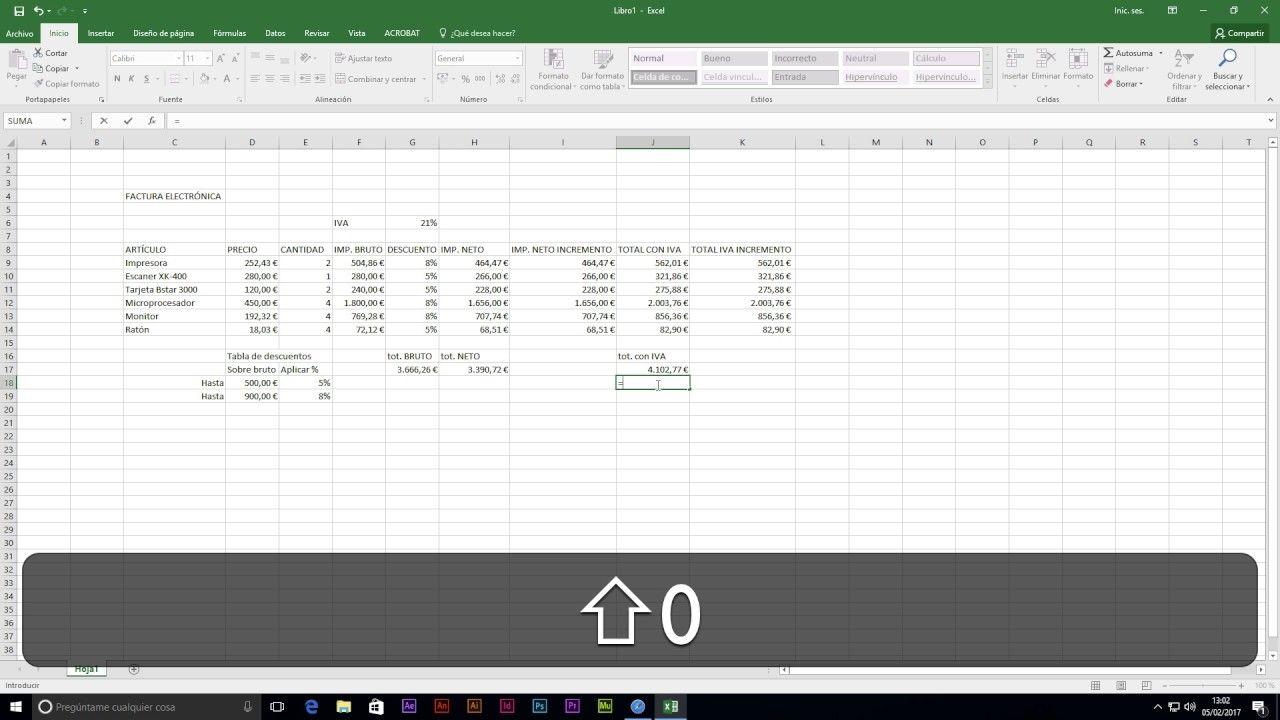 Pin En Tutoriales Excel 2016