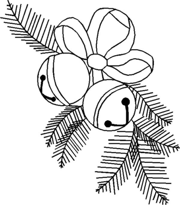 Small Christmas Bell Coloring Page