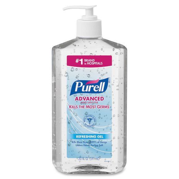 Purell Advanced Hand Sanitizer Green Certified Gel Pump Bottle