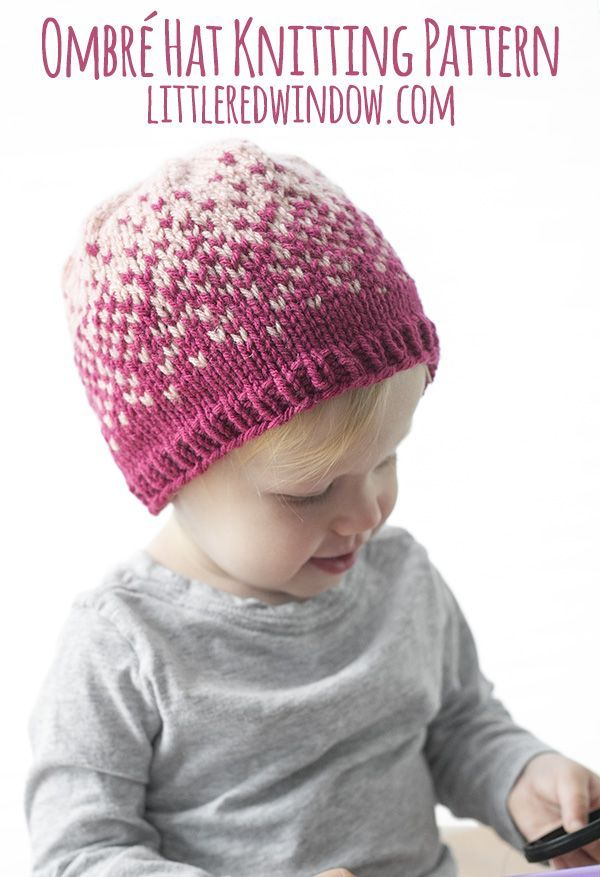 Fair Isle Ombré Hat Knitting Pattern | Fair isle knitting patterns ...