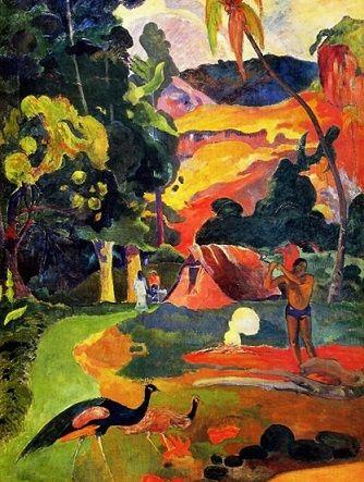 Paul Gauguin (1848-1903), Matamoe ou le Paysage aux paons   fauves en 2019   Gauguin, Paul ...