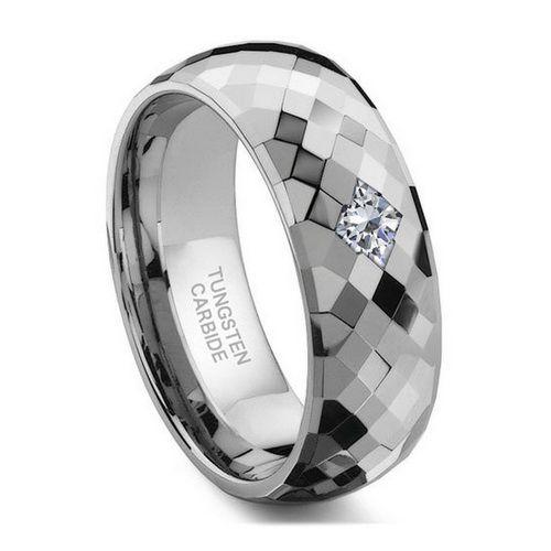 Platinum Cubic Zirconia Wedding Rings For Women