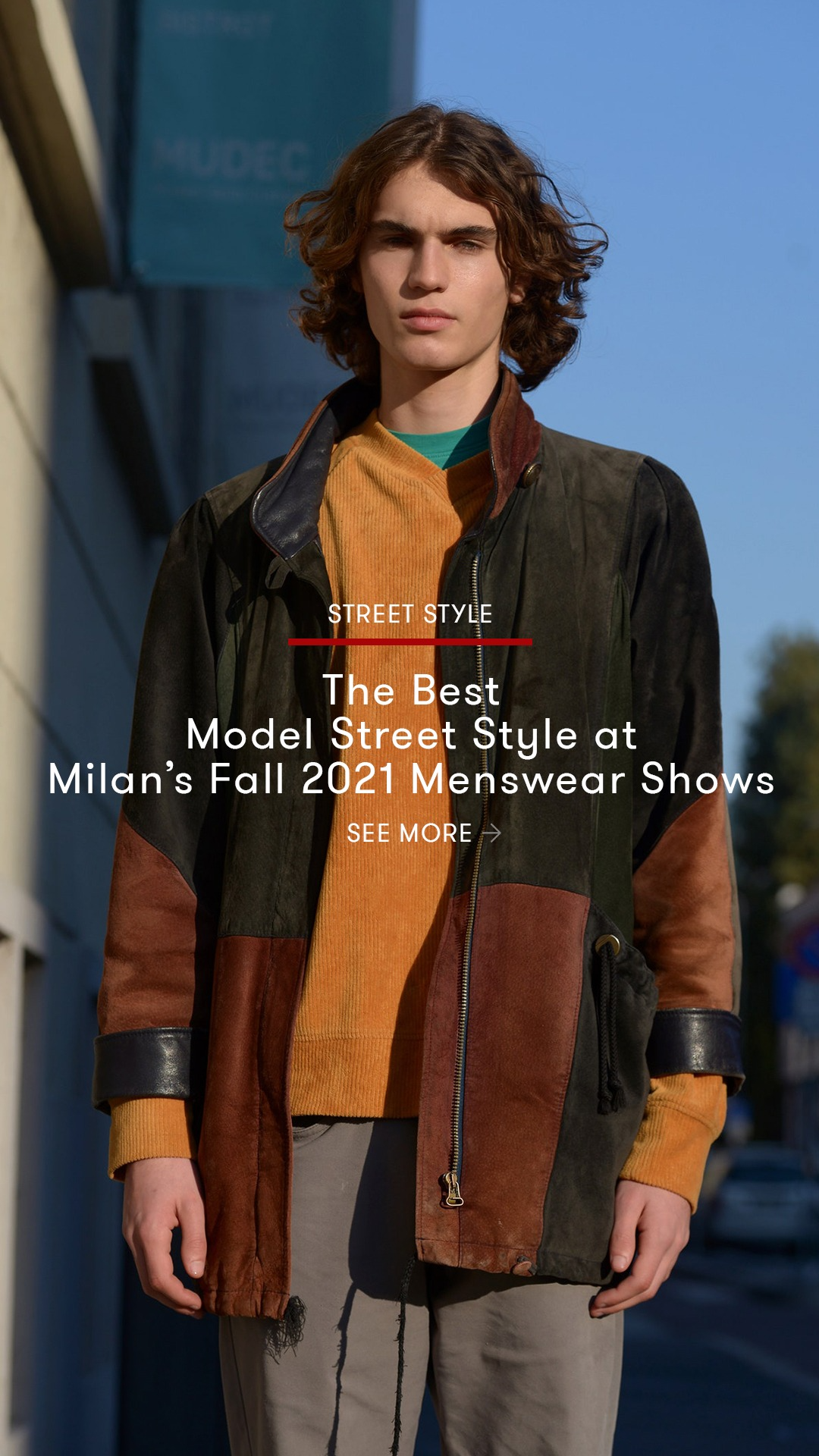 The Best Model Street Style at Milan's Fall 2021 Menswear Shows