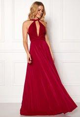 Goddiva Multi Tie Maxi Dress Red Bubbleroom.se  679012bd9c725