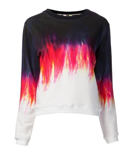 MSGM ombre dye design sweater