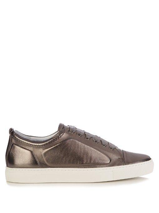 metallic low-top sneakers - Grey Lanvin HQy5L