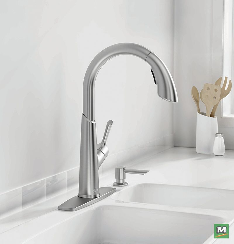 Choose The Lexlie Pull Down Kitchen Faucet From American Standard A Smooth Flowing Design With Gentle Cur Kitchen Design Styles Kitchen Design Kitchen Faucet