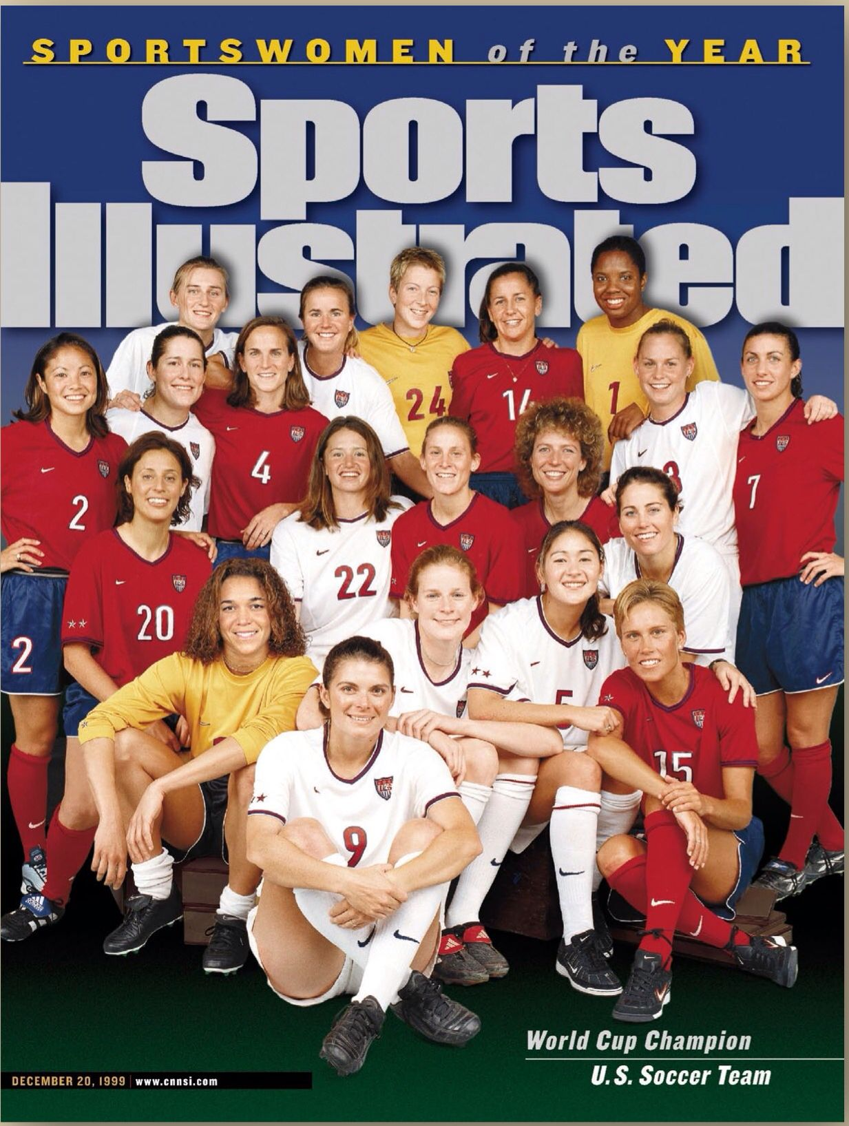 U S Women S World Cup Soccer Team 1999 Sportswomen Of The Year Sports Illustrated Cover Si Com Covers Usa Soccer Women Usa Soccer Team Women S Soccer Team