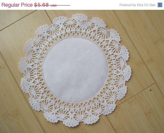 20 % Rabatt - 50 White Paper Lace Deckchen Deckchen 10 Zoll Größe