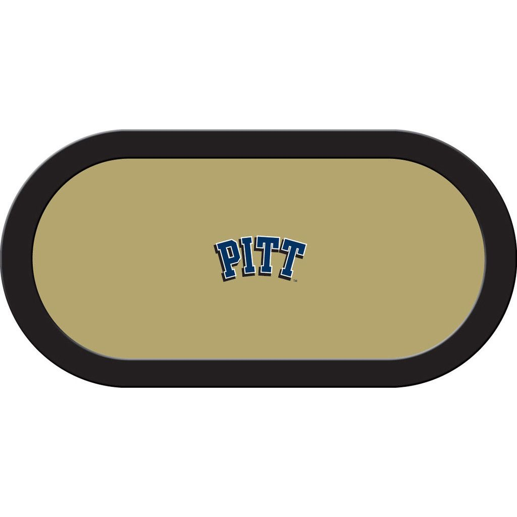 Pittsburgh Panthers Gold Texas Hold'em Team Logo Game Table Felt