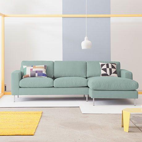 uppsala r corner sofa mint alt image three h o m e. Black Bedroom Furniture Sets. Home Design Ideas