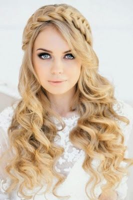 Peinados elegantes para fiesta cabello suelto
