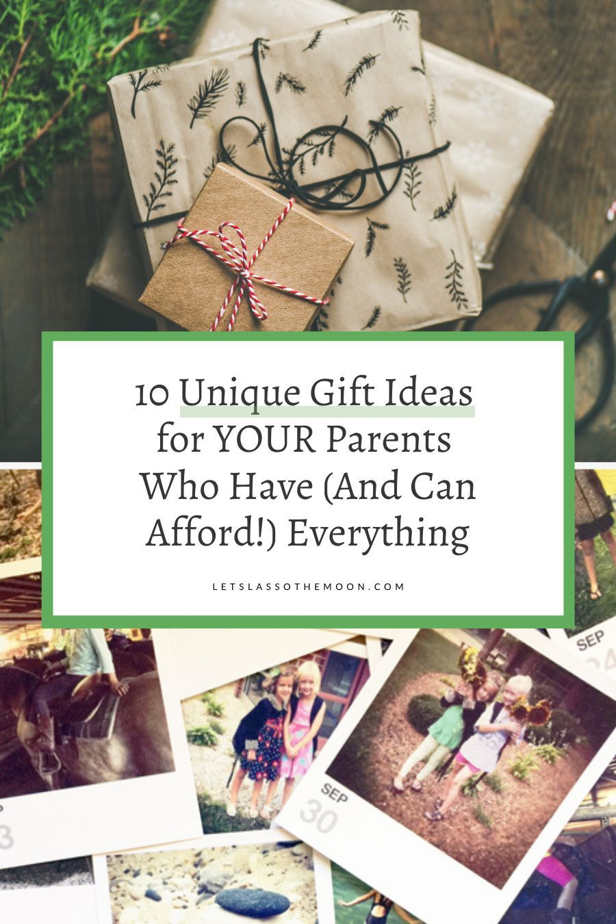 10 Gift Ideas For Your Parents Who Have Everything In 2020 Photo Gifts Diy Unique Christmas Gifts Christmas Traditions Family