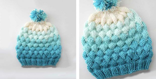 Bubble Knitted Beanie Hat FREE Knitting Pattern | Hat ...