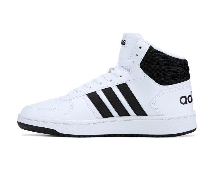Adidas Vs Hoops 2 0 High Top Sneaker White Black Adidas Shoes Mens Famous Footwear Top Sneakers