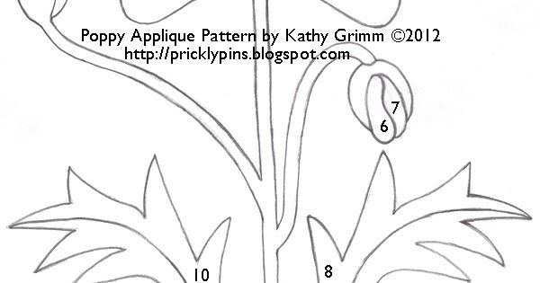 I have designed this Poppy applique pattern for those of you who would like to create a quilt similar to the one located in the article ...
