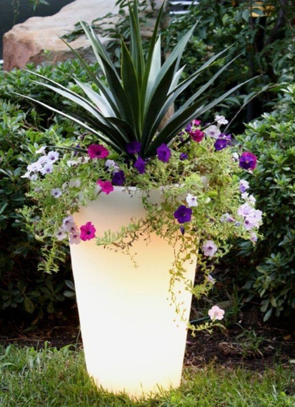 Glow Illuminated Planter Planters Solar Lights Garden Diy Garden