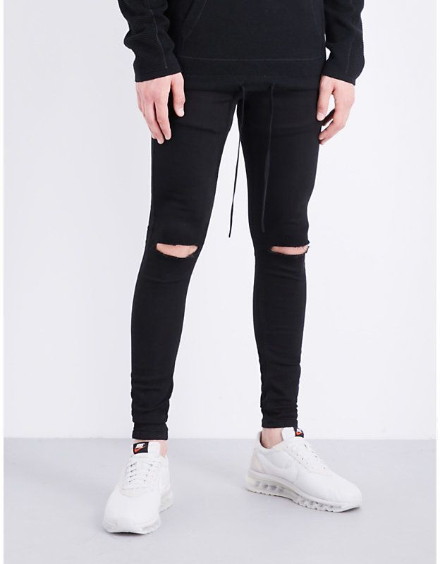 d026aeee HERA Spray-on Ripped Knee slim-fit skinny jeans | Men's fashion ...