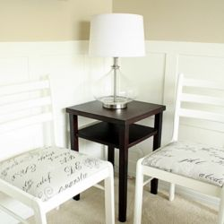 A how-to on turning an old pair of second hand chairs into chic furniture for your home.