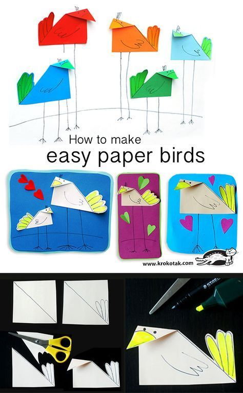 wie man einfache papiervögel macht in 2020  kunstprojekt