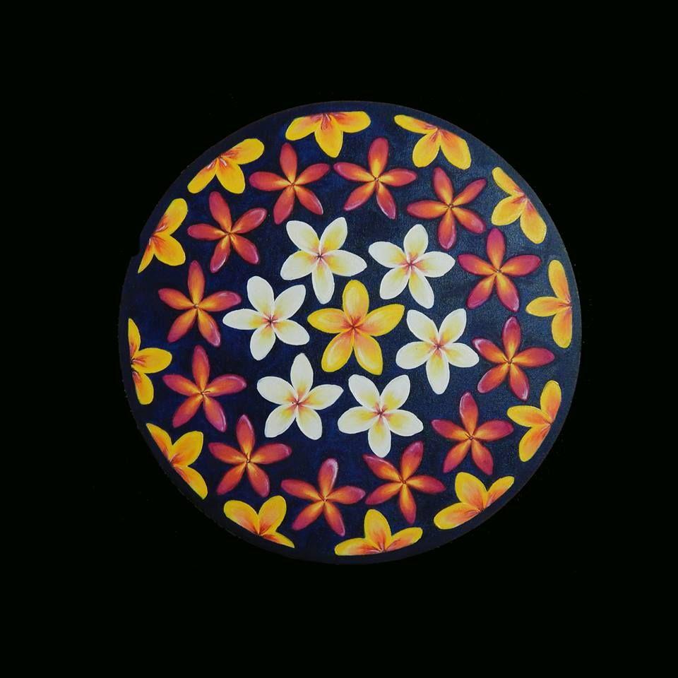 Mandala a óleo sobre tela
