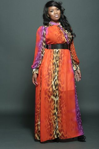 Orange Leopard Dress Fondren S Fashion House Leopard Dress Fashion Style Makeover