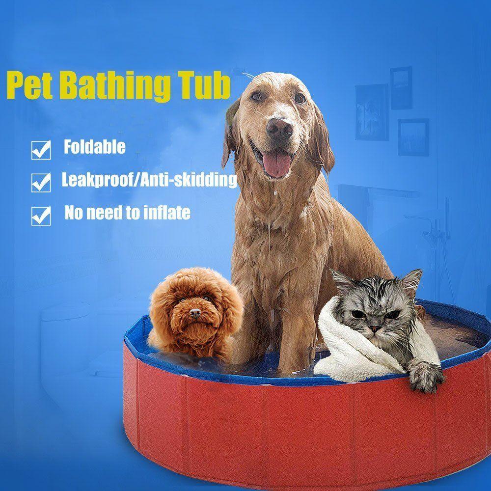 Lumcrissy Large Dog Pet Bathing Tub Portable Folding Pvc Pet Large