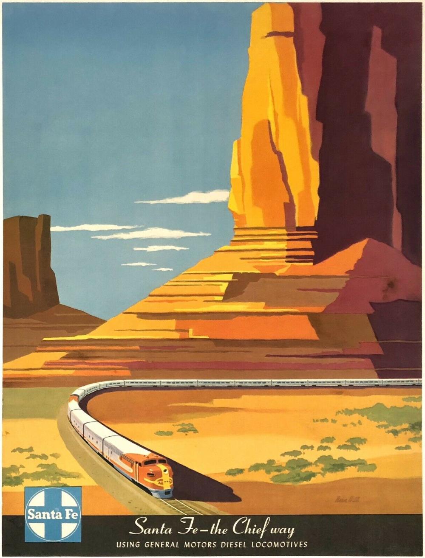 Chicago American Railroad Travel Giclee Canvas Print 18X24