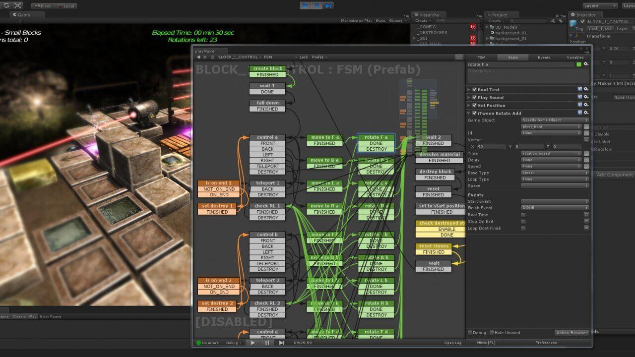 聚焦在 Playmaker:視覺化腳本編寫讓你繞開程式碼並釋放你的創作潛力 | Unity, Visual metaphor, Make a game