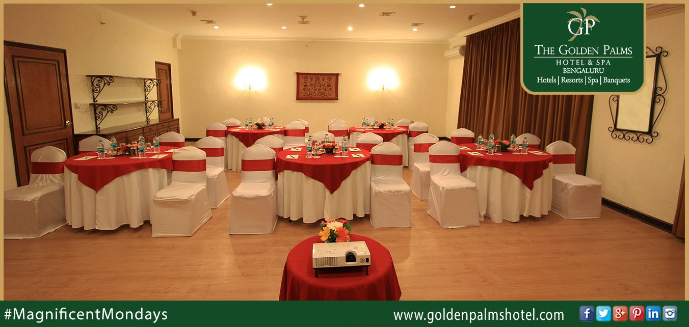 The Golden Palms Hotel & Spa comprises the widest, most advanced array of luxury meeting rooms in Bengaluru, with superb flexibility for small or large conferences Visit: www.goldenpalmshotel.com for more details. #MagnificentMondays