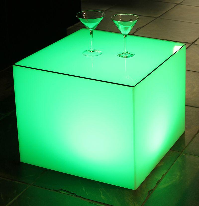 Semi transparent acrylic allowing green light to pass through