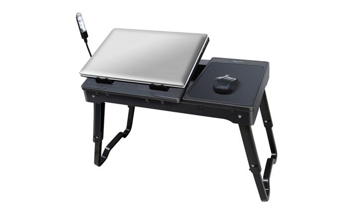 Multifunction Lap Tablet with Cup Holder Perfect for Perfect for Watching Movie on Bed Or As Personal Dinning Table Foldable Lap Desk Stand Golden Lap Desk