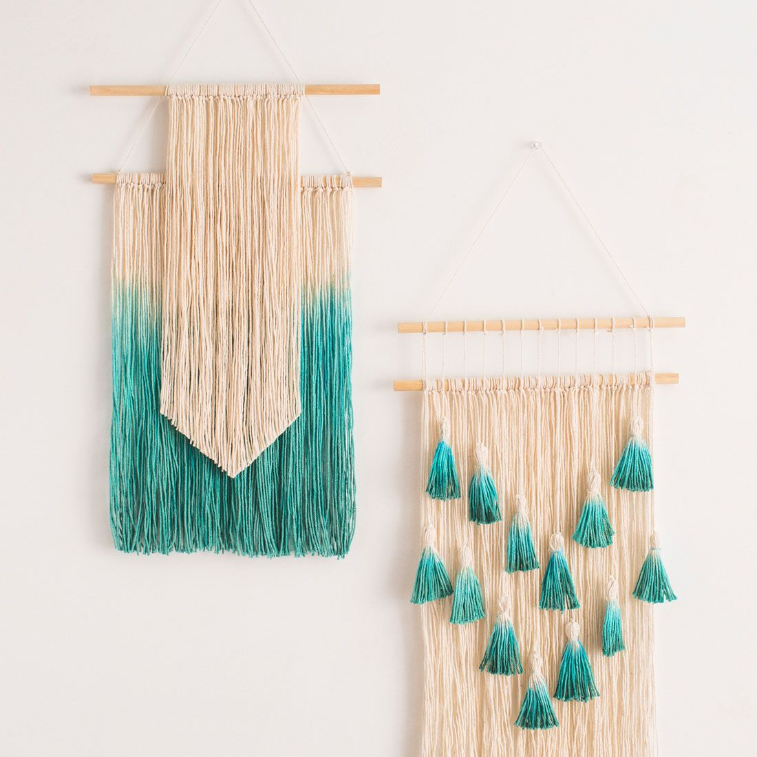 Wall Hangings diy modern gold wall hanging with tassels @ brittanymakes | all in