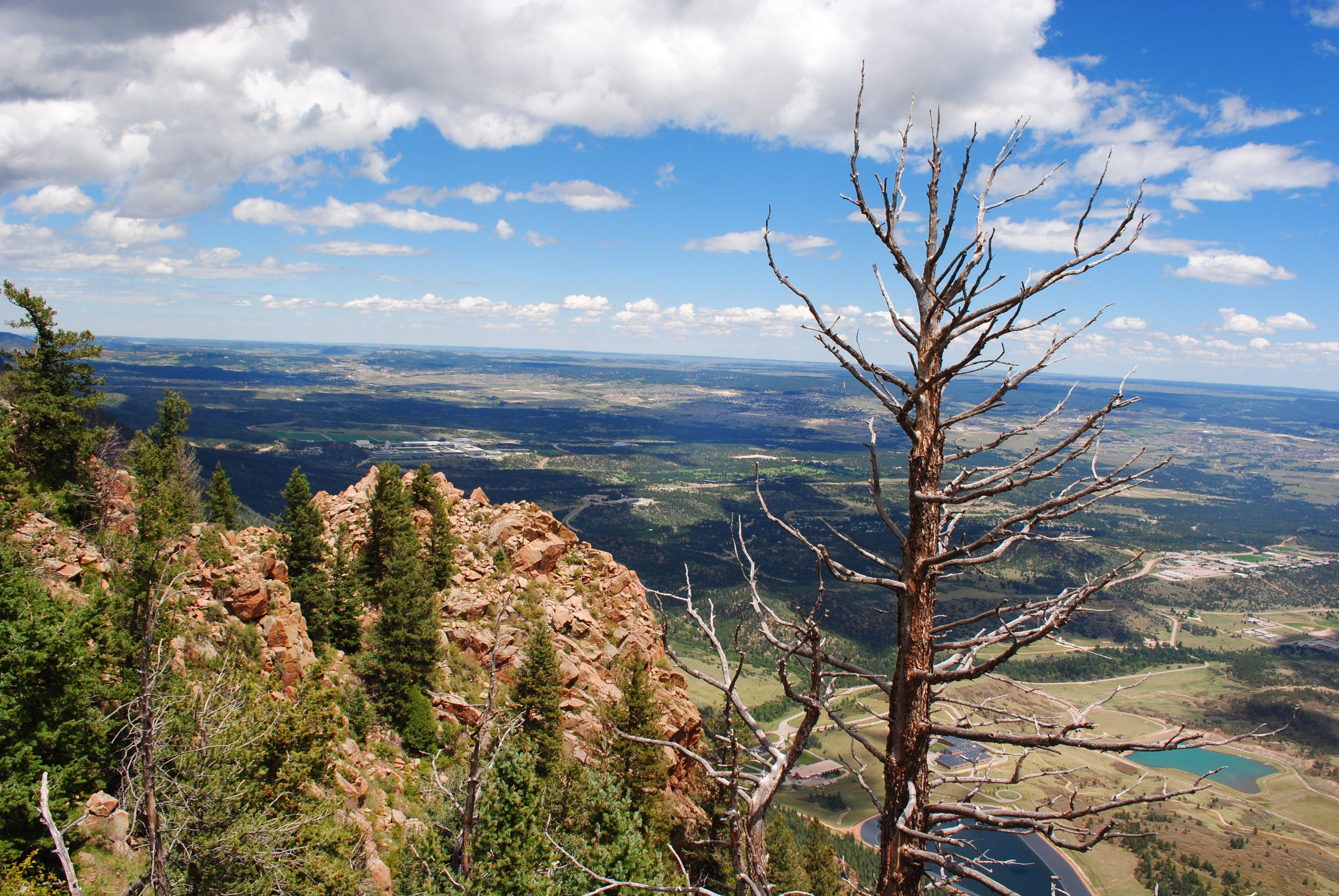 View from the top of Blodgett Peak in Colorado.