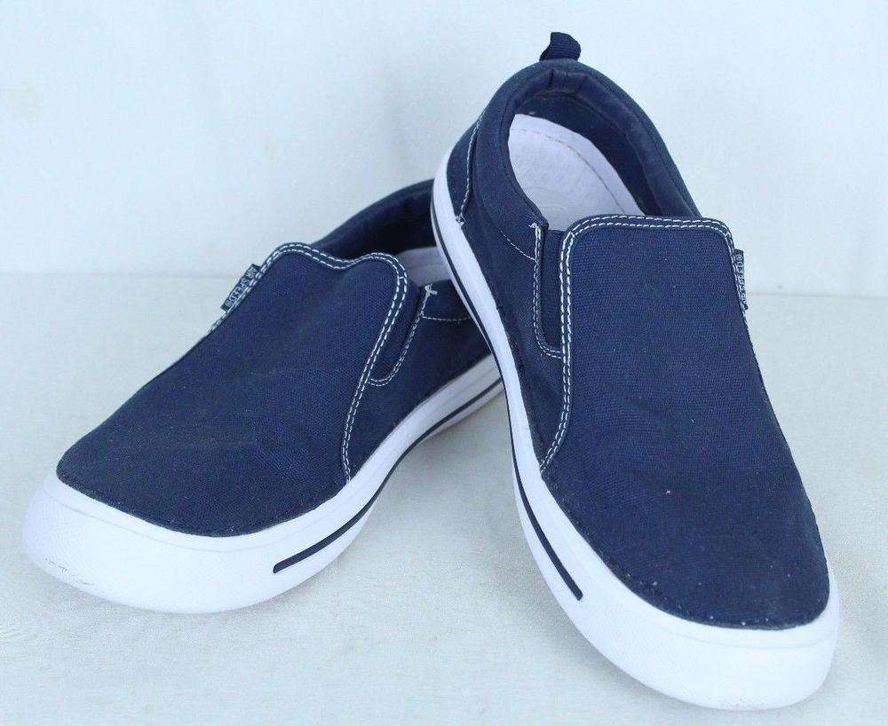 1bf0ca2dfa Air Speed Size 11 Men's Blue/White Canvas Slip On Casual Boat Shoes ...