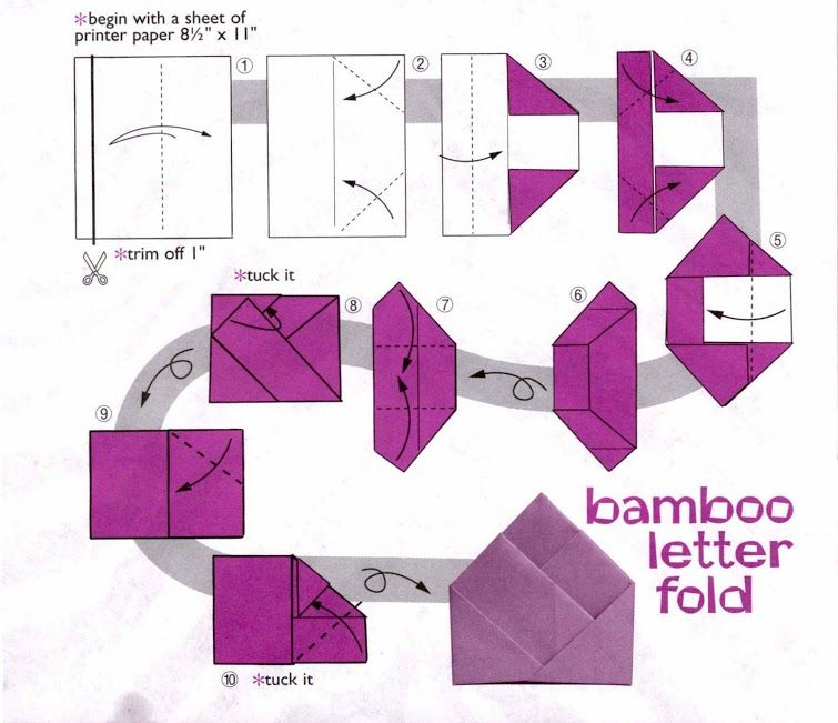 Bamboo Letter Fold An 8 5 X 11 Sheet Of Paper With 3 4