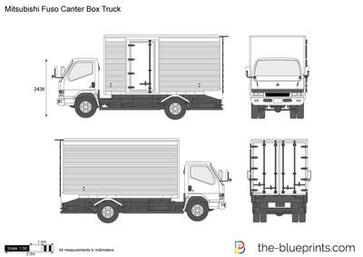 Mitsubishi Fuso Canter Box Truck Vector Drawing Trucks Mitsubishi Canter Mitsubishi