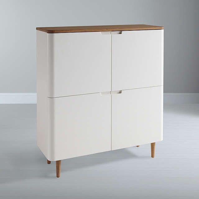 BuyEbbe Gehl for John Lewis Mira 4-door Cupboard, White Online at johnlewis.com