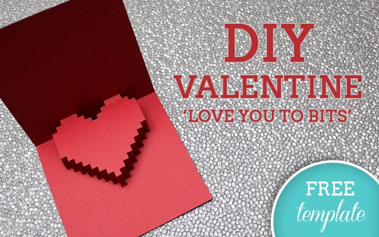 FREE VALENTINES TEMPLATE 3D Heart Card – Valentine Heart Cards