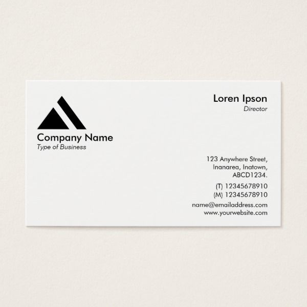 Triangle Symbollogo White Business Card Triangle Symbol