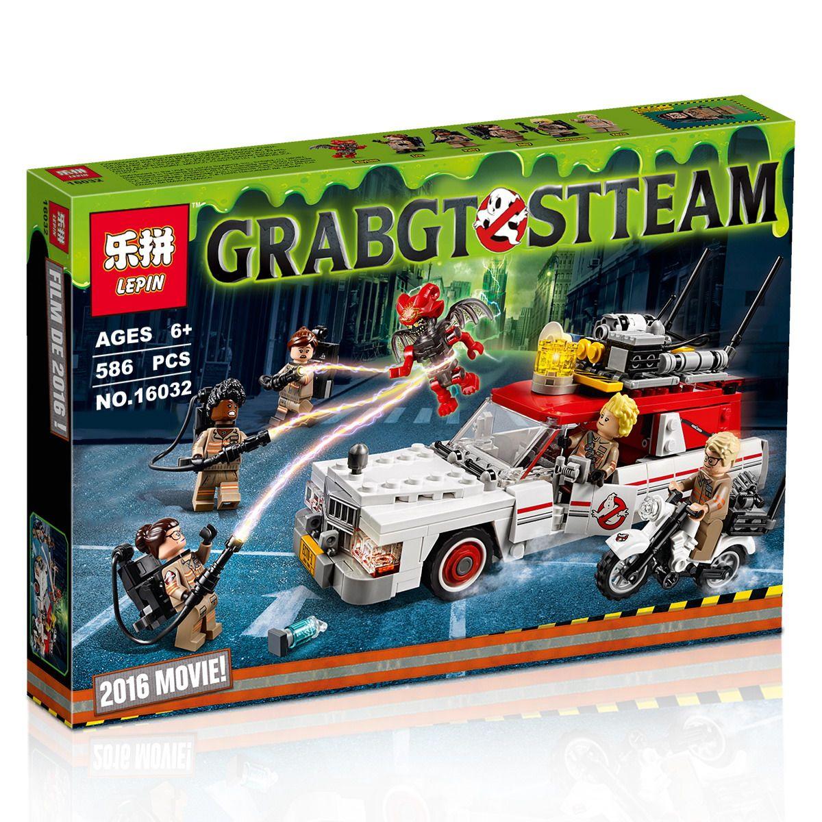 Ghostbusters Ecto-1 /& 2 75828 Building Blocks 586 Pcs Bricks Free Shipping