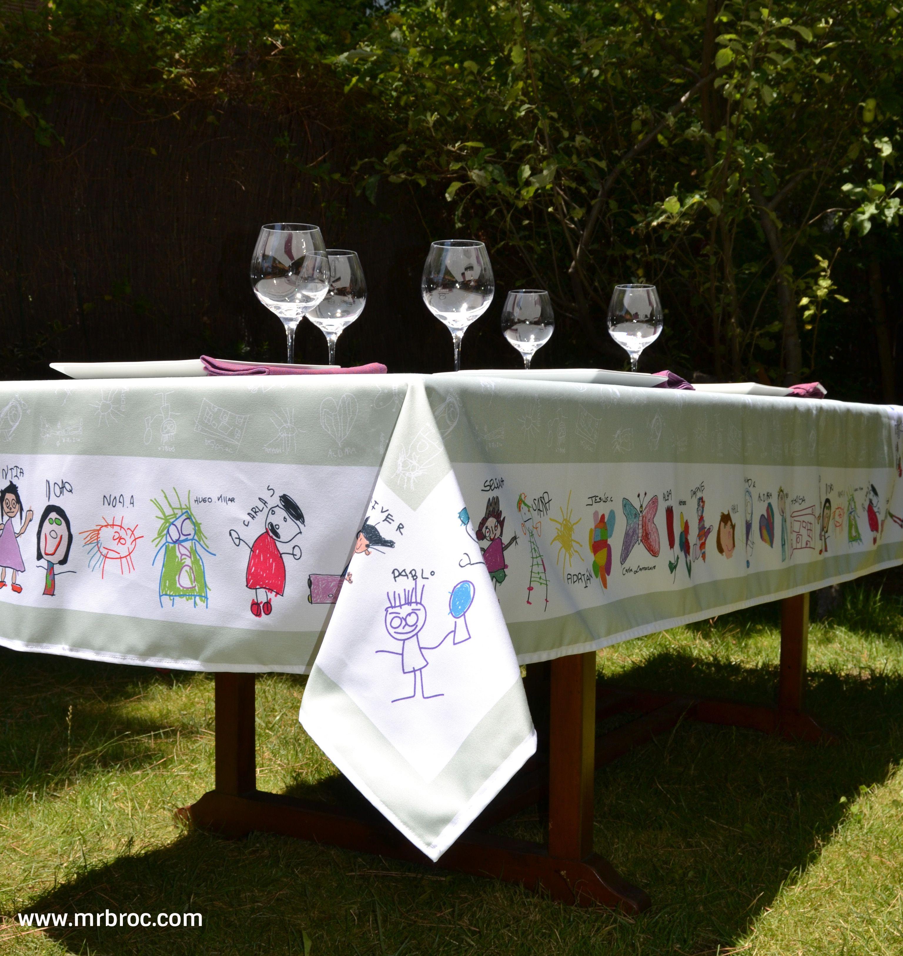 Manteles originales hecho con dibujos infantiles el regalo mas emotivo para el profe www - Manteles originales ...