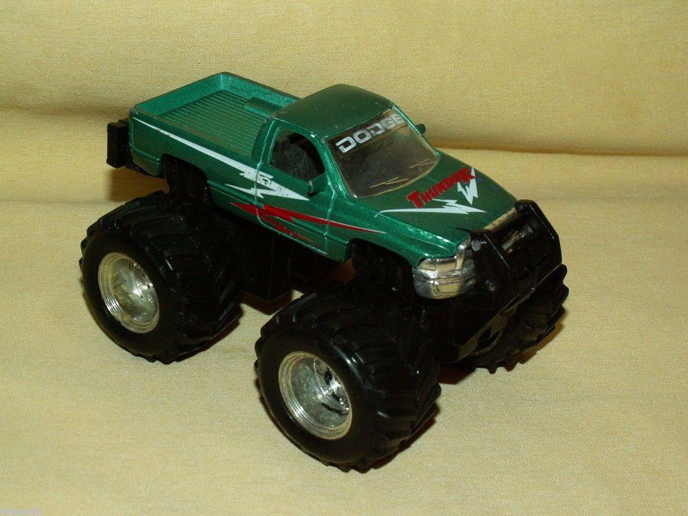 Green Monster Truck Toy : Dodge ram thunder pickup monster truck maisto mighty