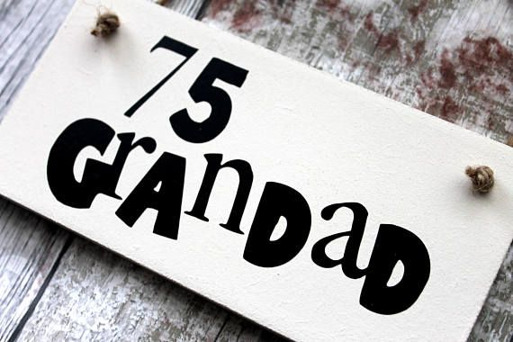 75th birthday - 75th - Grandad Birthday Gift-Grandad gift-Grandad Birthday Gift Personalized