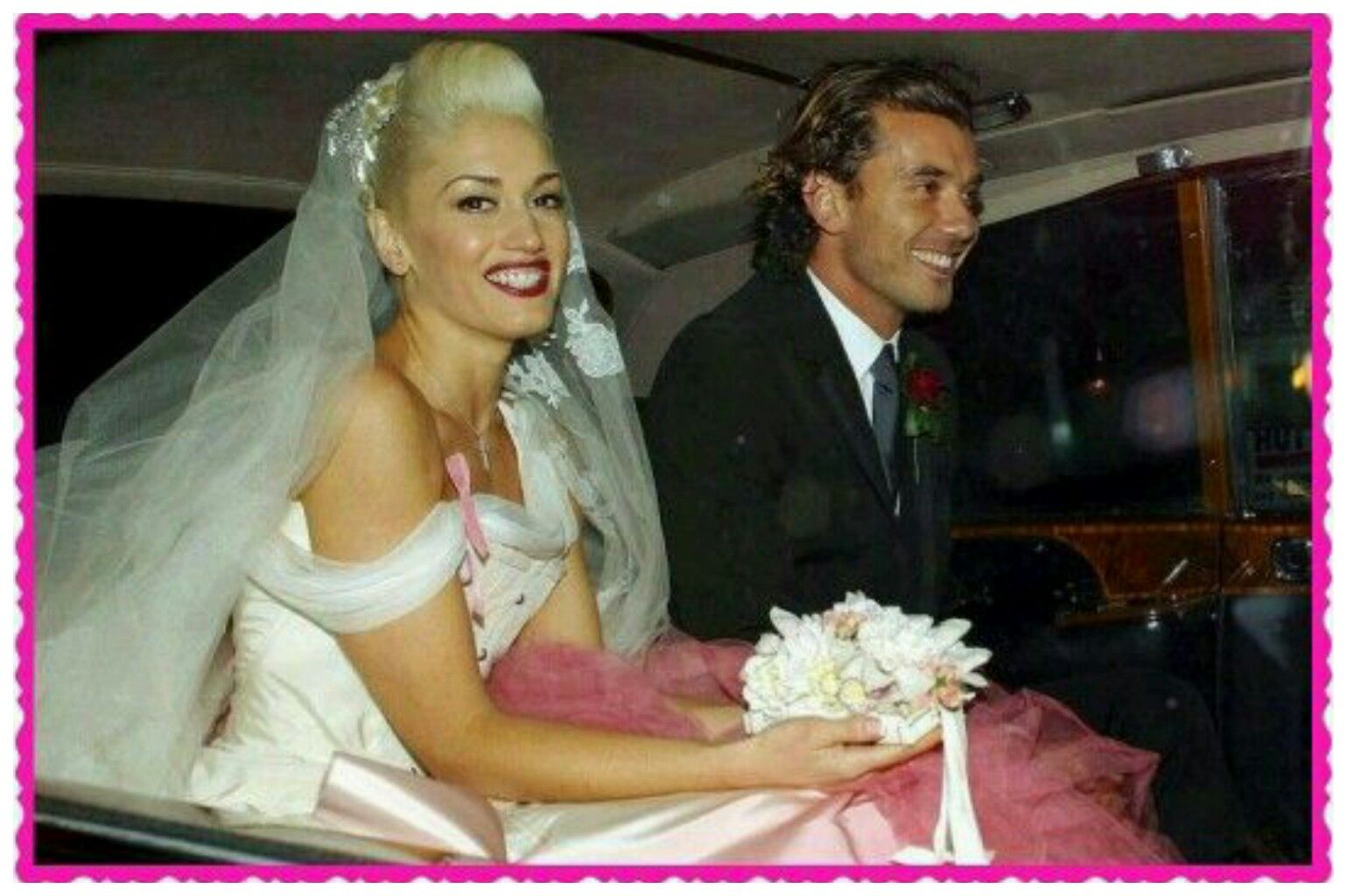 Gwen And Gavin Celebrity Bride Celebrity Wedding Gowns Celebrity Wedding Photos