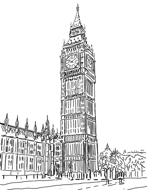 Bigben London Art Drawing Architecture Drawing Perspective Drawing Architecture