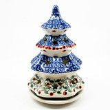 Attractive Polish Pottery Medium Christmas Tree Luminary #1543   Polish Kitchen Online