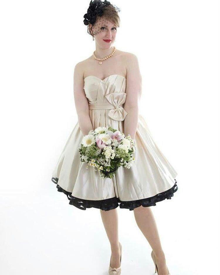 Short wedding dress black petticoat | Petticoats, Polka ...